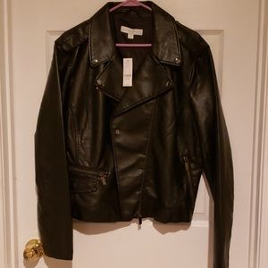 Moto black pleather jacket